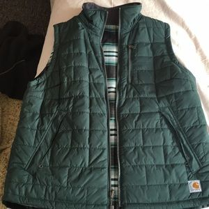 Carhartt flannel lined vest.